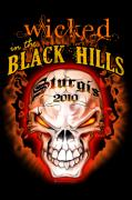 Skulls Digital Art - Wicked in the Black Hills - Sturgis 2010 by Michael Spano