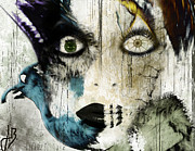 Female Art Mixed Media Print Mixed Media Posters - Wicked Poster by Jennifer Bodrow