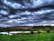 Hdr Photography Pastels - Wicked Wave Clouds by Jackie Novak