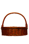 Basket Framed Prints - Wicker Basket Framed Print by Olivier Le Queinec