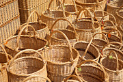 Wicker Baskets Prints - Wicker Baskets Print by Boris Suntsov
