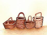 Wicker Baskets Prints - Wicker Baskets Print by Nan Wright