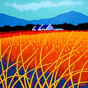 Landscape Framed Prints Painting Prints - Wicklow Hills Print by John  Nolan
