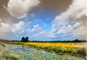 Field Pastels Prints - Wide Country Print by Stefan Kuhn