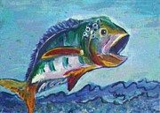 Gretzky Paintings - Wide Mouth Bass by Paintings by Gretzky