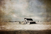 Barn Digital Art Prints - Wide Open Spaces Print by Julie Hamilton