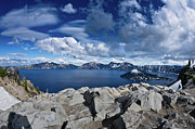 Crater Lake View Prints - Wide View of Crater Lake Print by Greg Nyquist
