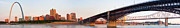 Financial Posters - Wide view of St Louis and Eads Bridge Poster by Semmick Photo