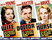 Loretta Framed Prints - Wife, Doctor And Nurse, Loretta Young Framed Print by Everett
