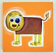 Jungle Pastels Originals - wIGGLY eYE LiON by Mara Morea