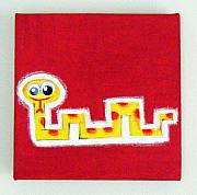 Jungle Pastels Originals - wIGGLY eYE sNAKE by Mara Morea