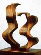 Women Sculpture Originals - Wiggly Women by Lonnie Tapia
