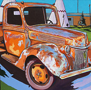 Rust Paintings - Wigwam Motel by Sandy Tracey
