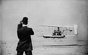 Observer Photo Metal Prints - Wilbur Wright 1867-1912 Takes Metal Print by Everett