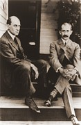 Flyers Posters - Wilbur Wright And Orville Wright Poster by Everett