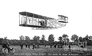 D.w. Posters - Wilbur Wright Flight Demonstration Poster by Science Source
