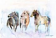 Wild Horses Framed Prints - Wild And Free Framed Print by Arline Wagner