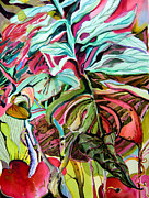 Green Drawings Originals - Wild and Grace Filled by Mindy Newman