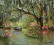 South Carolina Paintings - Wild Azaleas by Jane Woodward
