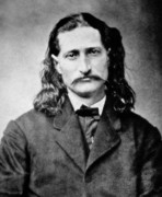 Mustache Photo Prints - Wild Bill Hickok - American Gunfighter Legend Print by Daniel Hagerman