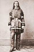 Wild Bill Hickok Photos - Wild Bill Hickok Portrait In Buckskins by Everett