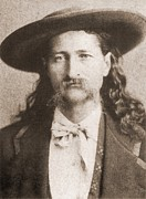 Mustaches Metal Prints - Wild Bill Hickok Was A Celebrated Metal Print by Everett