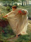 Poynter Paintings - Wild Blossoms by Sir Edward John Poynter