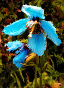 Johnny Trippick Posters - Wild Blue Flowers of Summer Poster by Johnny Trippick