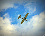 Single-engine Photo Prints - Wild Blue Yonder Print by Bruce Carpenter