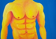 Male Nude Paintings - Wild Blue Yonder by Randall Weidner