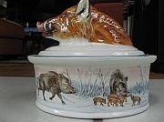 Wild Animals Ceramics - Wild board by Fleurlise