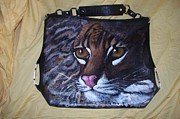 Cats Tapestries - Textiles Originals - Wild Cat by Danelle Cummings