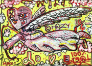 Angel Modern Art Posters - Wild Crazy Love Poster by Robert Wolverton Jr