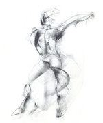 Ballet Drawings Posters - Wild Dancer Poster by Christopher Williams