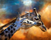 Giraffe Art - Wild Dreamers by Carol Cavalaris