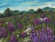 Rock  Pastels - Wild Flower Field by Anastasiya Malakhova