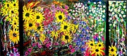 Karen Elzinga Paintings - Wild flowers 3 by Karen Elzinga