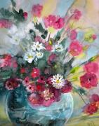 Art Miki Paintings - Wild Flowers Bouquet 01 by Miki De Goodaboom