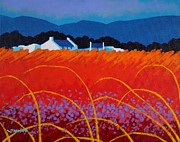 Purple Decorative Art Art - Wild Flowers County Wicklow by John  Nolan