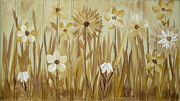 Repetition Paintings - Wild Flowers by Kathy Sheeran