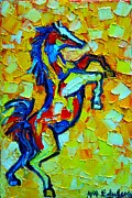 Love The Animal Painting Prints - Wild Horse Print by Ana Maria Edulescu