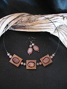 Horse Necklace Jewelry - Wild Horse Jasper Choker CH14 by Barbara  Prestridge