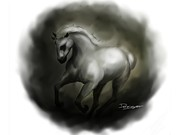 Oils Digital Art Originals - Wild Horse by Mario Domingues