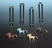 Horse Necklace Jewelry - Wild Horses  by NIna Winters