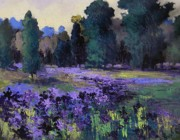 Fields Of Flowers Paintings - Wild Iris by Mary Scott