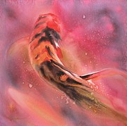 Feng Shui Paintings - Wild Koi by Robert Hooper