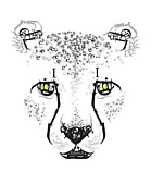 Cheetah Digital Art - Wild Letters by Samantha Winfield