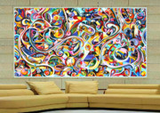Large Tapestries - Textiles - Wild Life Dreaming by Ky Wilms