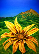 Ski Paintings - Wild Mountain Flower by Jim Figora