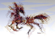 Running Back Mixed Media - Wild One 2 by Mimo Krouzian